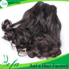 Trama del pelo humano de Remy del pelo de la Virgen de la onda natural del grado 7A