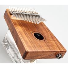Piano de pulgar eléctrico con caja de madera de acacia de 17 tonos