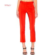 Calça de Moda Vermelha Brilhante em Poliéster para Mulher