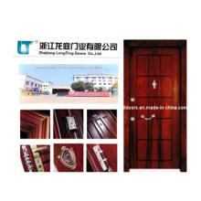 Turquía acero madera puerta acorazada con certificado ISO