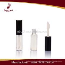 Recipiente cosmético negro de lustre de labios de buena calidad