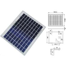 Módulo solar policristalino de PanelView de 9V 12V 18V 8W 10W 12W con TUV ISO aprobado