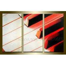 Peinture abstraite pour piano à la main sur toile