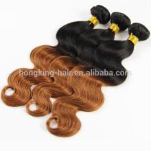 18 pouces vague de corps 100 grammes ombre trame de cheveux noir brun couleur # 1b / 8 trame de cheveux humains remy