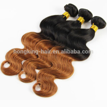 18 inch body wave 100 grams ombre hair weft black brown color #1b/8 human remy hair weft