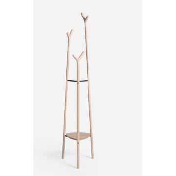 beliebter vertikaler Garderobenständer aus Holz