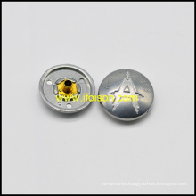 Alloy Snap Button with A logo