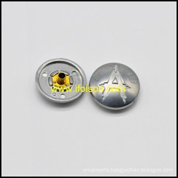 Alloy Snap Button with A logo