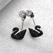 Alibaba Express Turkey Fancy Elegant Swan noir Swap bouclé à cristaux modifiables