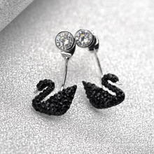 Alibaba Express Turkey Fancy Elegant black swan changeable crystal dangling earring