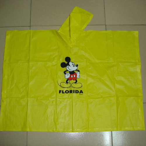 poncho with logo