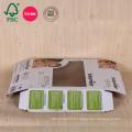 Emballage fait sur commande de boîte de papier de carton ondulé de vente chaude avec la fenêtre