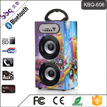 BBQ KBQ-606 10W 1200mAh High Acoustical Portable MP3 Music USB Speakers for Laptop