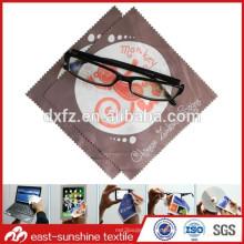 Tela de microfibra de alta calidad de limpieza lente gafas de tela de venta caliente