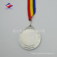 médailles en blanc d'argent doré personnalisées en blanc