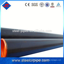 High quality round section ASTM standard seamless steel pipe varnish surface treatment