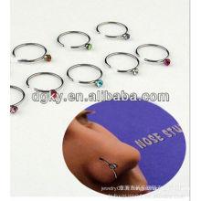American fashion BCR anneaux de nez en acier inoxydable piercing