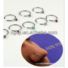 America fashion BCR stainless steel nose rings body piercing