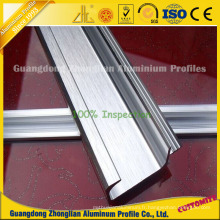Profils en aluminium balayés d'extrusion pour la fabrication de poignée de placard / armoire / garde-robe