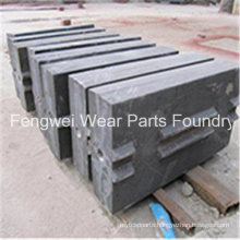 Sand Casting Super High Manganese Steel Blow Bar