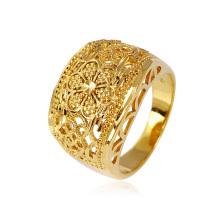 Jóia da forma 18k banhado a ouro bela jóia de traje senhora dedo anelar