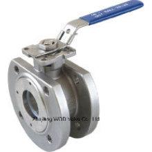 Tipo Wafer Válvula de esfera com ISO5211 flangeadas