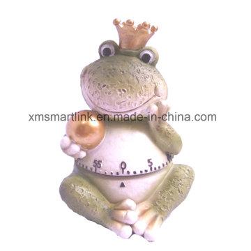 60min Polyresin Escultura Frog Statue Mechanical Kitchen Timer
