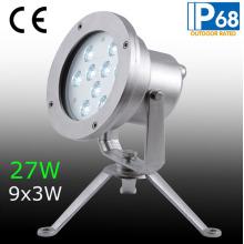 IP68 27W LED Underwater Spot Light, LED Underwater Fountain Light