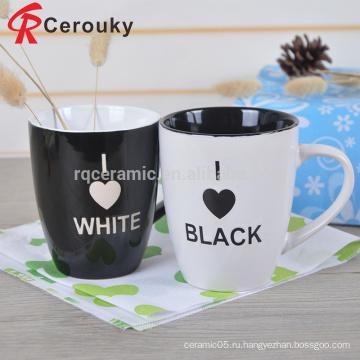 Китай производство индивидуальных напитков молока, круглой формы выгравировать керамические молочные кружки и чашки