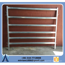 1800 mm * 2100 mm Heavy duty 6 bars galvanized cattle panels