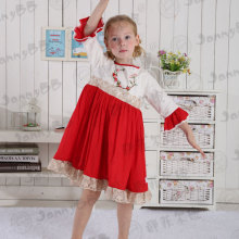 Wholesale christmas baby girls embroidery dress