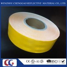 Cinta reflexiva de la seguridad adhesiva amarilla de los fabricantes al por mayor para el vehículo