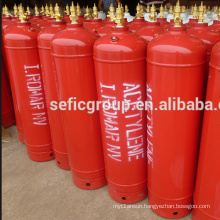CGA 300 Small size 2L 4L C2H2 acetylene gas cylinder