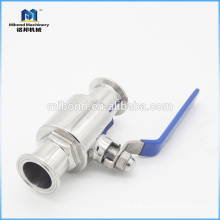 Made In China 2 way food grade Tri-clamp stainless steel ball valve