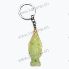 Förderung leuchtende St Benedict Statue Schlüsselanhänger Metall