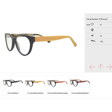 Óculos de estilo simples 2017, quadros ópticos prontos