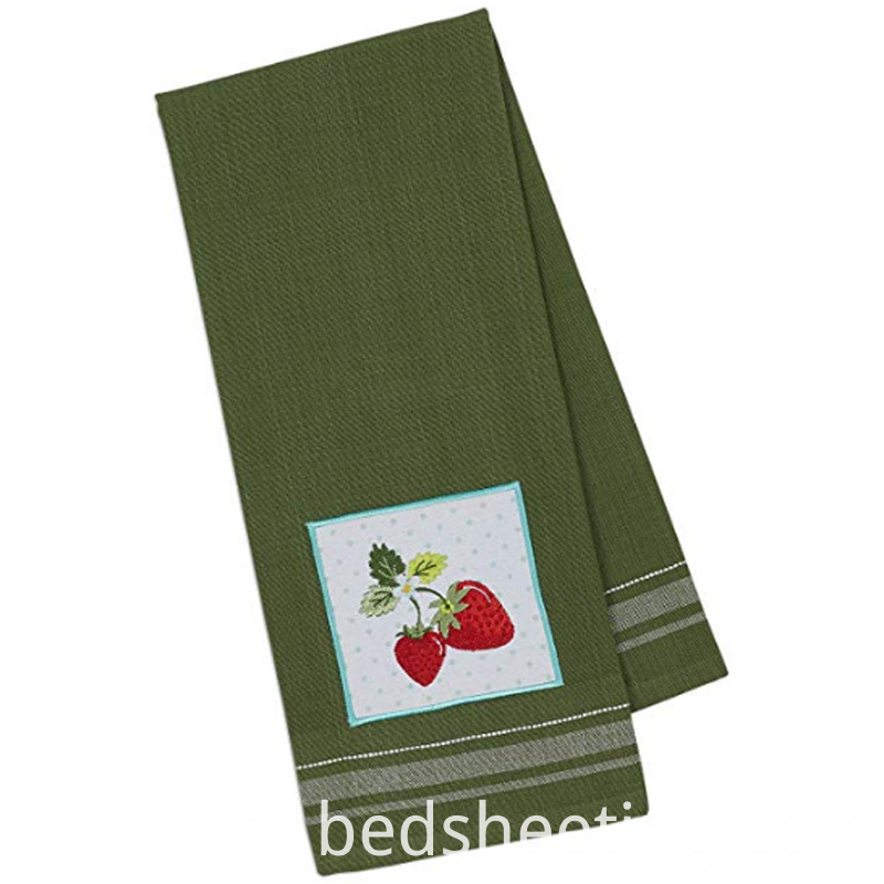 Strawberry Embrroidery Cotton Tea Towel