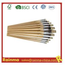 Pincel com barril de madeira