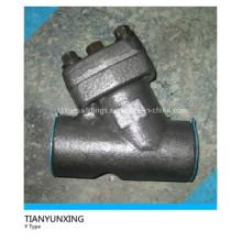 Tipo Y Tornillo hembra forjado de acero al carbono Válvula de filtro