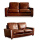 Comfortable Couch Living Brown Leather Sofas Set