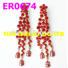 red stone fashion earring