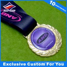 Medalla de metal en blanco al por mayor con Epoxy Your Logo
