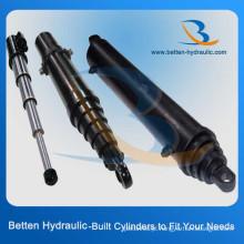 Cilindro hidráulico telescópico de aço inoxidável único