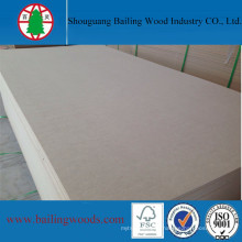 Light Color Raw MDF for Decorative Wall Panel