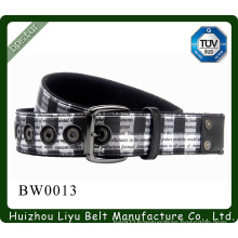 2015 canvas belt men with rivets fashion pin buckle