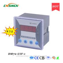 DM72-UIF-1 panneau de taille 72 * 72mm monophasé à courant continu d'une utilisation industrielle numérique volt ampère et hertz compteur combiné