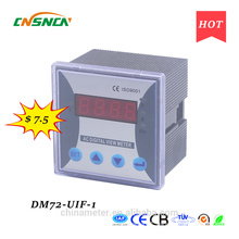 DM72-UIF-1 panel size 72*72mm single-phase ac one led industrial usage digital volt ampere and hertz combined meter