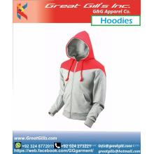 Zweifarbiger, maßgefertigter, stilvoller, warmer Winter-Hoodie mit Design