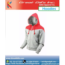 Two color custom made stylish winter warm hoodie with design