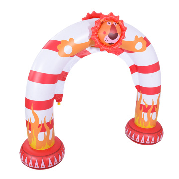 Inflatable sprinkler arch toy in the lion shape